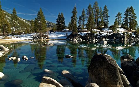 Tahoe Sand And Gravel Wallpaper Water River Winter Sand Harbor State