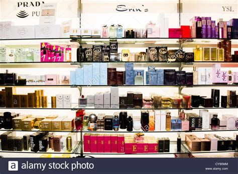 Shelf Of Perfume by Jars And Bottles Of Perfumes On Shelves Interior Perfume