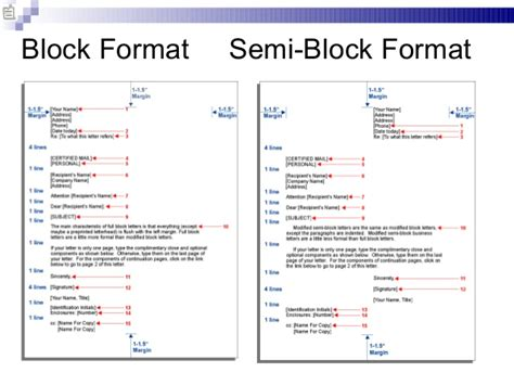 Business Letter Block Format Spacing business communication chap 2 business writing