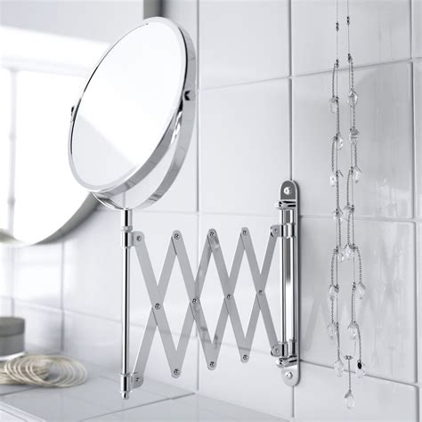 folding mirrors for bathroom wall mounted folding extending makeup shaving magnifying