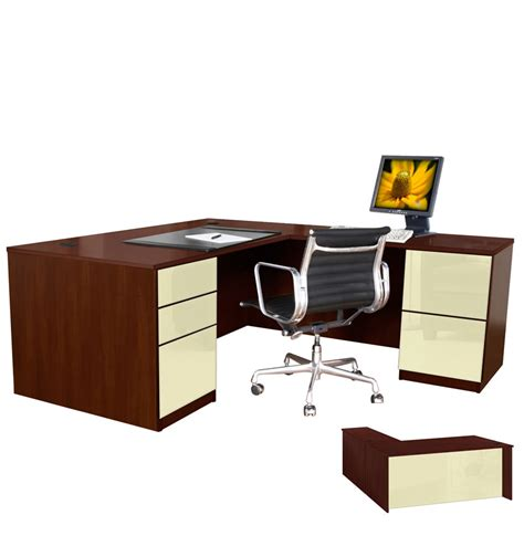Executive L Shaped Desk L Shaped Executive Desk Pedestal Right