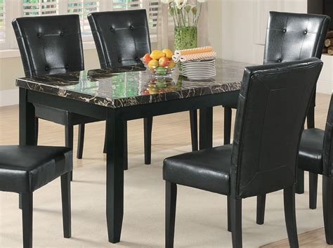 Black Marble Dining Room Table | coaster anisa dining table black marble top 102791