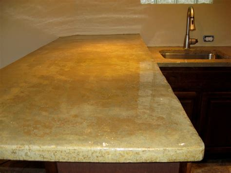 Removing Stains From Concrete Countertops by Lastiseal Stain Applied To Concrete Countertop Kitchen