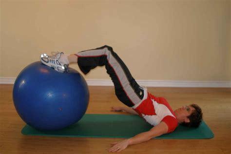 bridging   exercise ball  knees bent