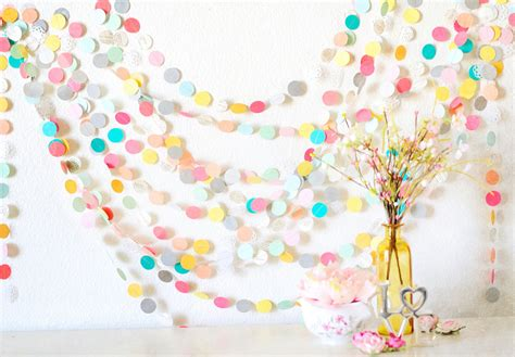 Paper Garland - 25 wedding paper garland wedding decoration home decor by