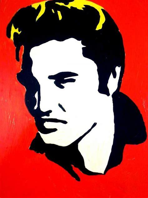elvis presley pop art painting elvis presley the king of rock and roll creative art