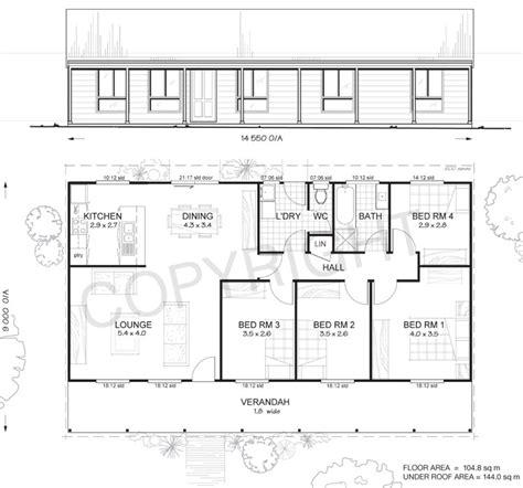 mitchell 4 met kit homes 4 bedroom steel frame kit