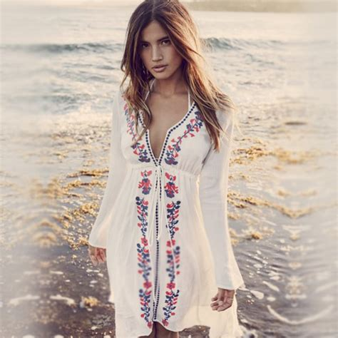 Rocky Tunik dress hawaiian hippie hippie chic retro dress dress linen dress embroidered dress