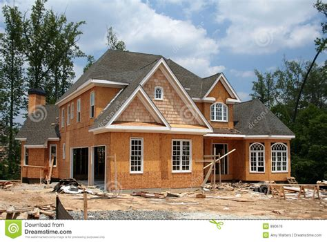 free home builder home under construction royalty free stock image image