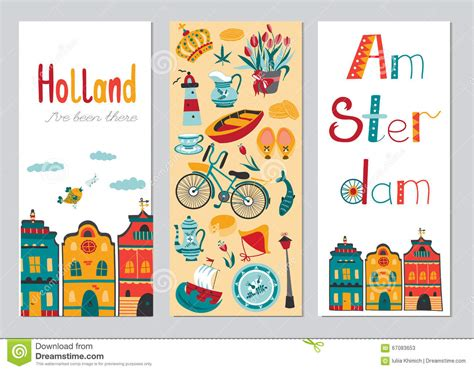 Card Banner Template by Netherlands Vertical Banner Templates Stock Vector Image