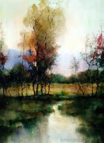 Landscape Paintings 15 Beautiful Watercolor Landscape Paintings By Zl Feng