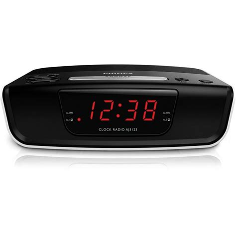 Alarm Clock Philips philips digital tuning clock radio aj3123 fm digital