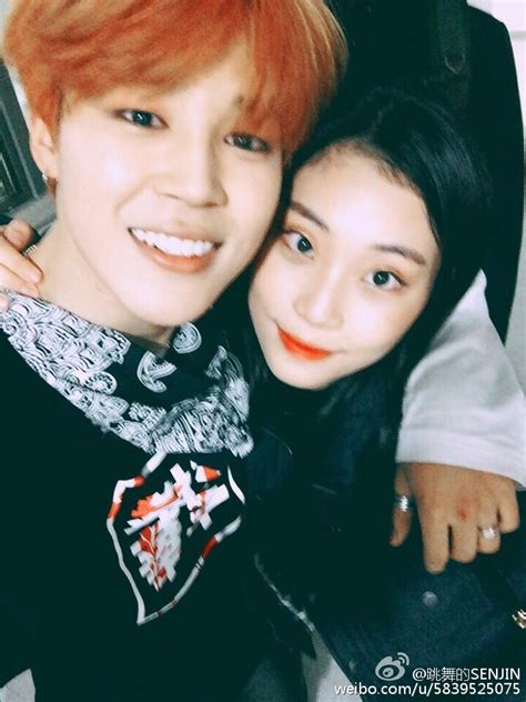 bts girlfriend picture weibo bts jimin high school friend posted a