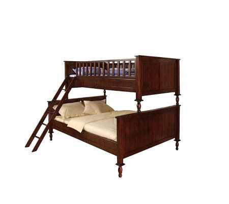 qvc beds radcliff ii twin full wooden bunk bed qvc com