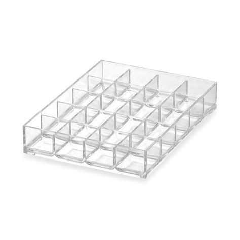 bed bath and beyond trays earring organizer plastic 20 compartment drawer tray