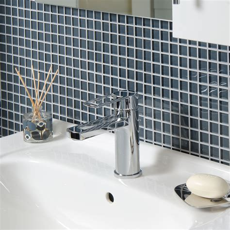 grey mosaic bathroom grey glass wall mosaic