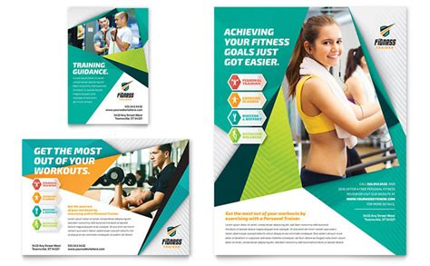 template for advertisement free fitness trainer flyer ad template design