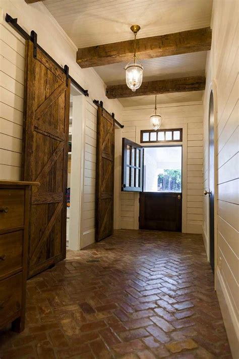 mudroom floor ideas quot wood quot plank doors with hewn ceiling beams