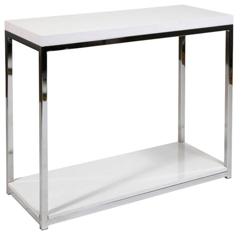 office avenue six wall foyer table in chrome