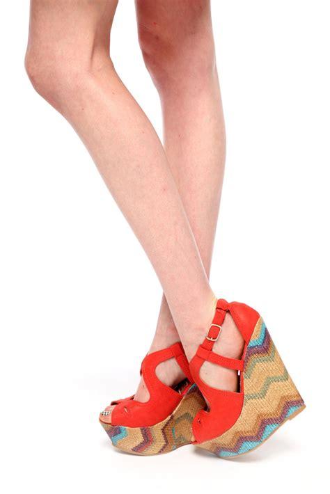 Wedges Zigzag dbdk zigzag platform wedge sandals from miami by prinzzesa