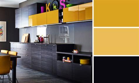 cuisine jaune et noir quelles couleurs se marient bien entre elles