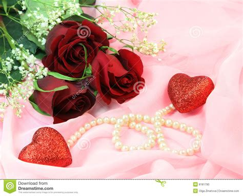 C Nel Pearls roses pearls and hearts stock photo image of pearls