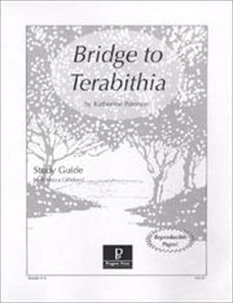 bridge to terabithia novel study guides for the teacher bridge to terabithia study guide march 1 1996 edition