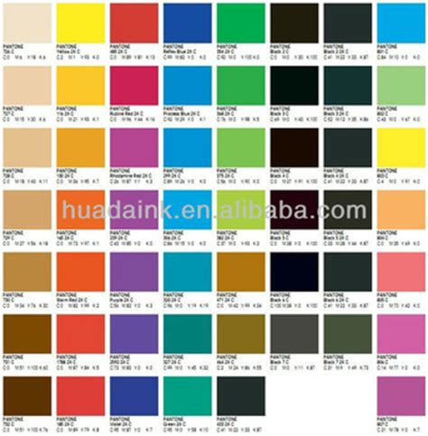 Bandung In Pantone Color Pt Two fast setting color consistence pantone printing inks
