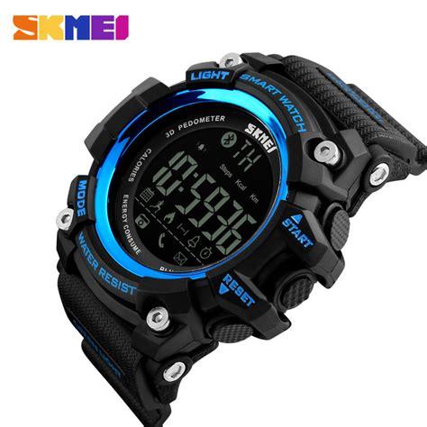 Jam Tangan Bluetooth Sony skmei jam tangan olahraga smartwatch bluetooth dg1227 bl black blue jakartanotebook