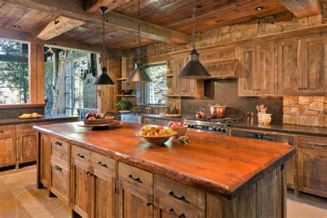 rustic cabin kitchen layout pictures best home 15 warm cozy rustic kitchen designs for your cabin