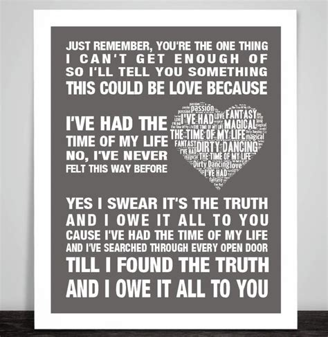 dirty dancing time of my life lyrics 1000 images about inspirational quotes and music lyrics
