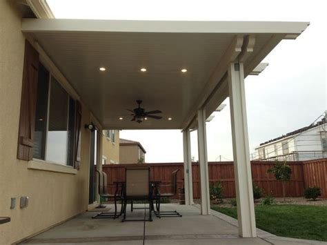 Patio Light Covers Alumawood Patio Cover With Fan And Two Lightstrips Canned Lights Alumawood Pinterest