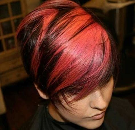 short hair styles with two tones of color two tone hair color for short hair short hairstyles 2017
