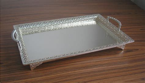 19 5x13 5 large rectangle silver plated alloy metal serving tray inside decorative trays plans 0