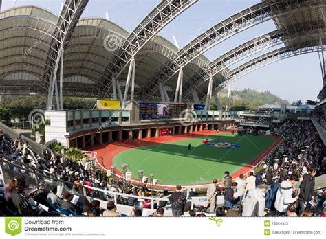 new year races hong kong sha tin racecourse hong kong editorial stock photo