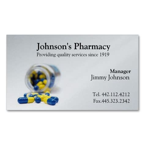 Pharmacy Business Card Template by Pharmacy Business Card Pharmacist Pharmacists Pharmacy
