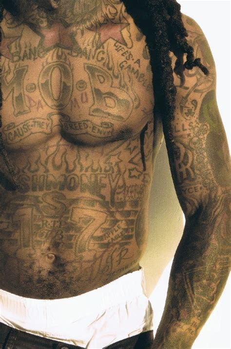 tattoo chest money lil wayne tattoos