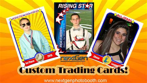 make custom trading cards bar bat mitzvah photo booth free photo frames