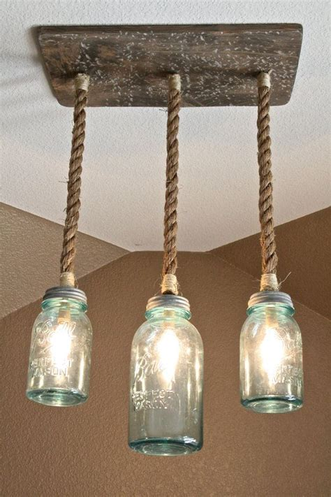 Diy Mason Jar Triple Pendant Light Diy Jar Pendant Lights