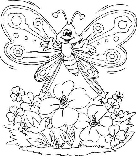 coloring pages of roses and butterflies butterfly over flowers coloring page coloring com