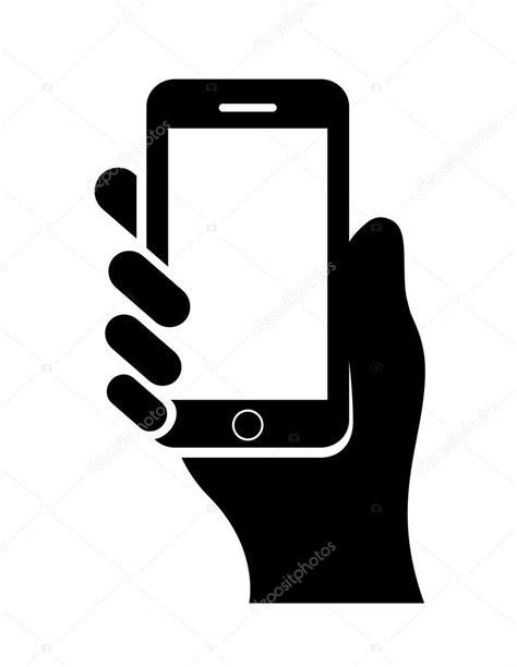 clipart cellulare de la mano con el tel 233 fono celular vector de stock
