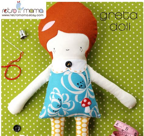 pattern sewing doll girl doll fabric doll greta doll pdf sewing pattern