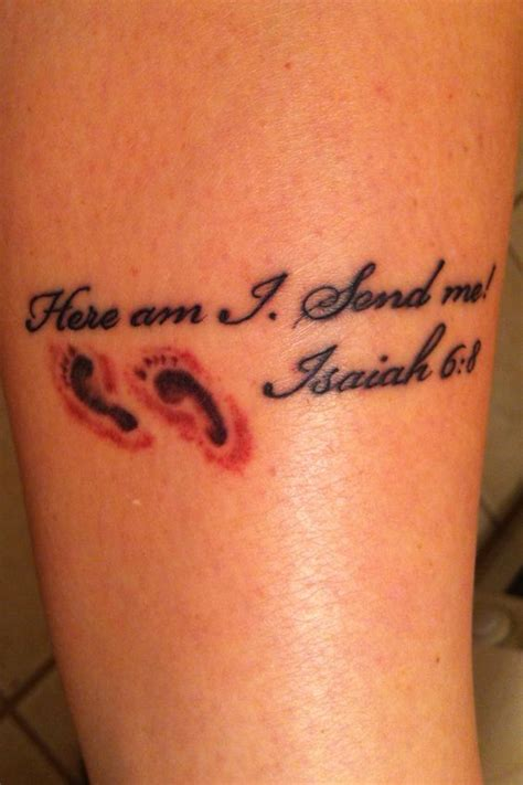 send me tattoo here am i send me isaiah 6 8 this is the verse i ve