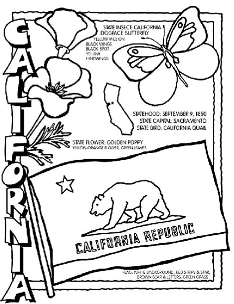 coloring page map of california california coloring page crayola com