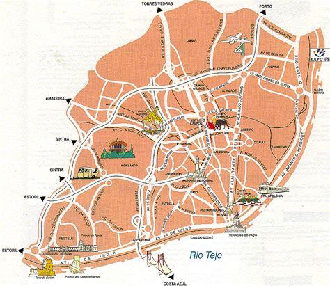 printable map lisbon map of lisbon portugal free printable maps