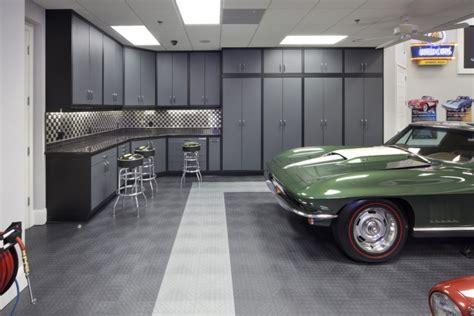 Rubber Flooring For Garage by 20 Garage Flooring Tile Designs Ideas Design Trends