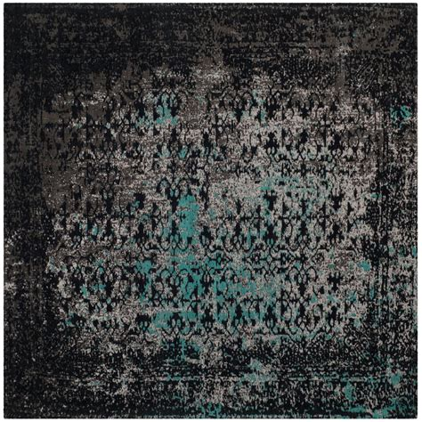 Teal Square Rug Safavieh Classic Vintage Navy Teal 6 Ft X 6 Ft Square
