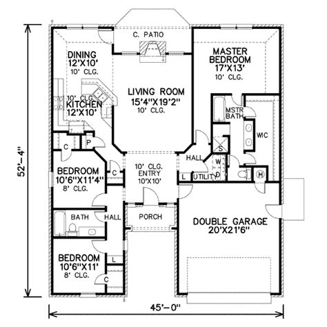 house 11486 blueprint details floor plans