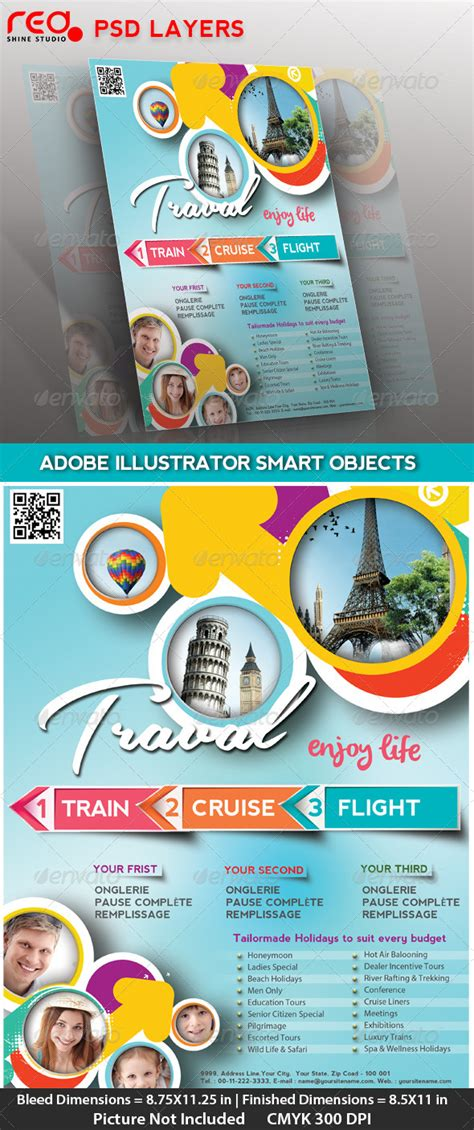 free travel flyer templates travel flyer poster magzine cover brochures flyer