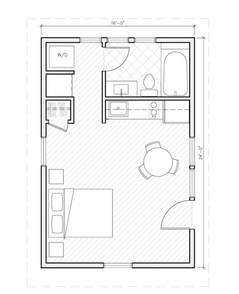 One Room Floor Plans by 1 Bedroom House Plans Under 1000 Square Feet One Bedroom